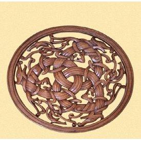 Borre stylu Viking woodcarving