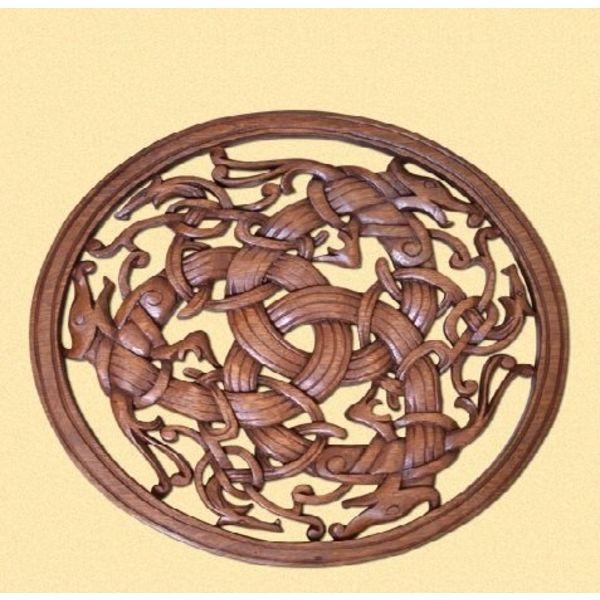 Stile Borre vichinghi sculture
