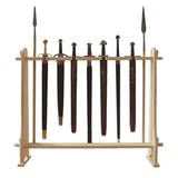 Wooden stand for swords and pole weapons