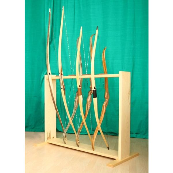 Bow stand from wood for 8 bows