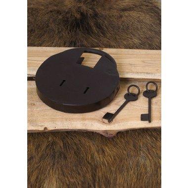 Cadenas historique ronde avec deux clés