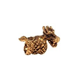 Bronze dragon beardbead