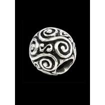 Beardbead med dobbelt-spiral, sølv
