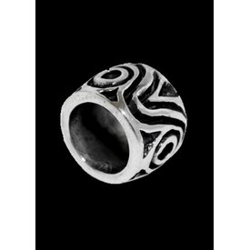 Germanic hair & beard bead silver