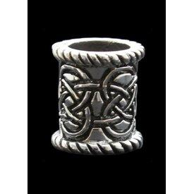 Silver Celtic beardbead