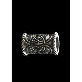 Long Celtic beardbead silver