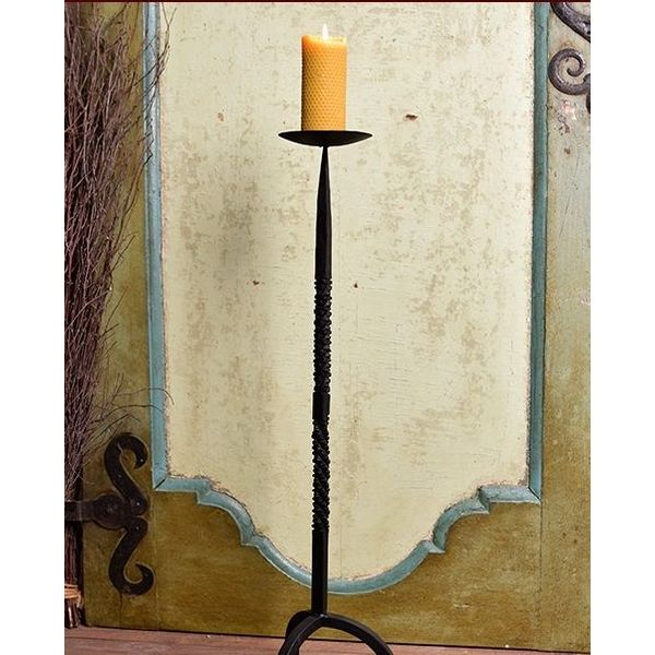Hand-forged candle holder