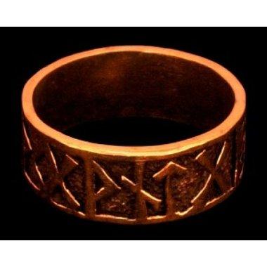 Rune anillo, bronce