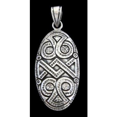 Silver shield broche pendentif