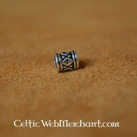 Viking beardbead with lozenge silver