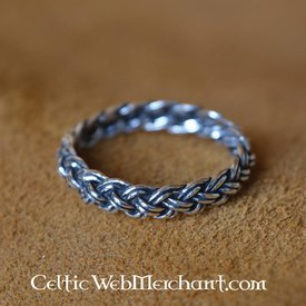 Vikingo anillo con modelo de nudo