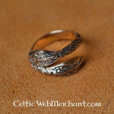 Viking anello punte di lancia in bronzo