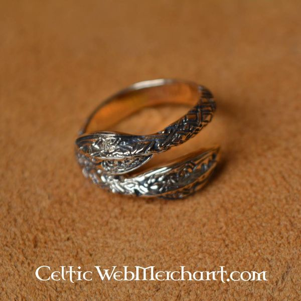 Viking Ring with spearheads pattern, bronze
