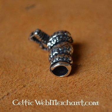 Viking dragon beard bead silver