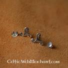 Orecchini a chiodo Triskelion, argento