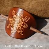Keltische haarpin Nuala donkerbruin