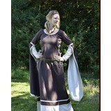 Medieval Dress Dorothee, brown/natural-coloured