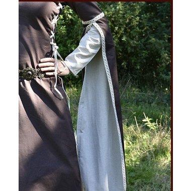 Vestido medieval Dorothee, marrón natural