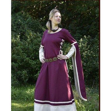 Abito medievale Dorothee, bordeaux-naturel