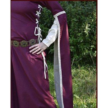 Dorothee robe médiévale, bourgogne-naturel