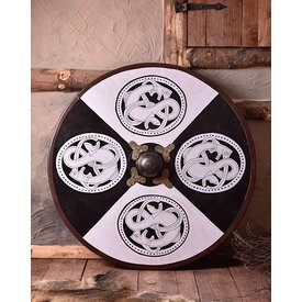 Houten Vikingschild urnesstijl