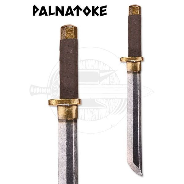 Tanto - LARP Dagger, hilt brass coloured
