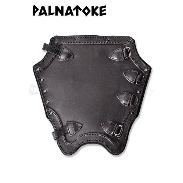 Plain protezioni in pelle shin, nera