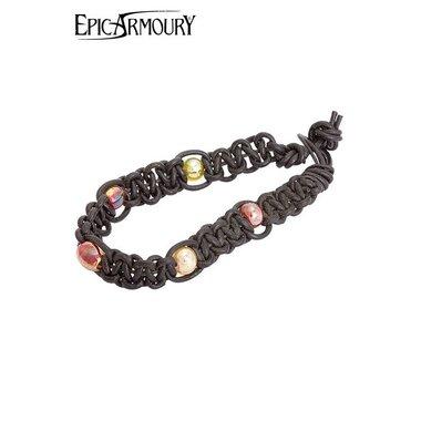 Bracelet avec des perles, cuir