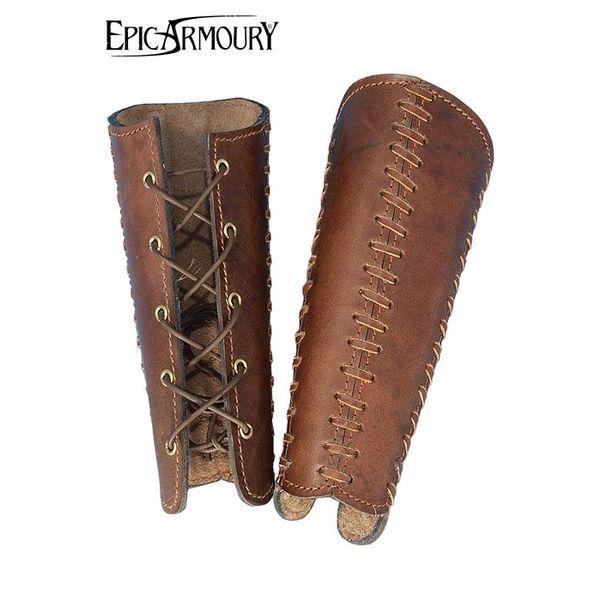 Epic Armoury Armbåndene Squire, brun, par