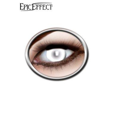Gekleurde contactlenzen wit, LARP accessoir