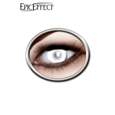 Le lenti a contatto colorate bianco, accessorio GRV