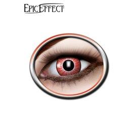 Epic Armoury Las lentes de contacto de color, rojo brillante, LARP accesorio