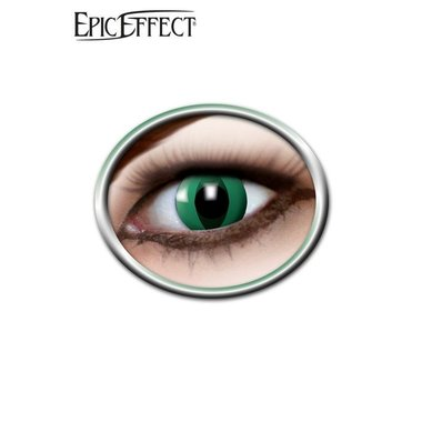 Anaconda coloré, noir, lentilles de contact, accessoire vert / GN