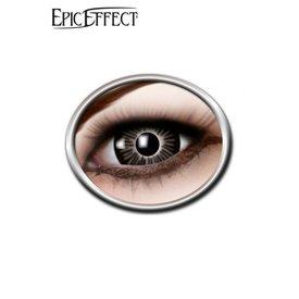 Epic Armoury Coloured Big Eye Contact Lenses Black, LARP Accessory