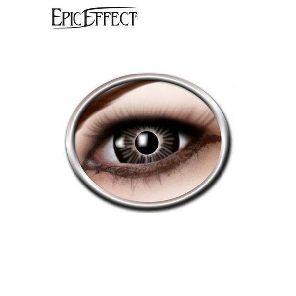 Epic Armoury De ojos grandes de color, lentes de contacto negro, LARP accesorio