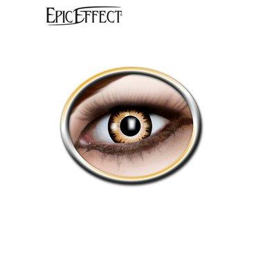 Gekleurde contactlenzen bruin/zwart, LARP accessoir