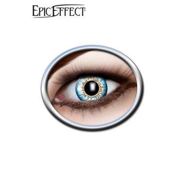 Lentes de contacto color azul / amarillo, LARP accesorio