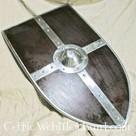 Scudo medievale con umbone