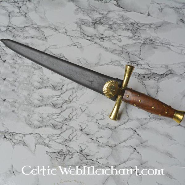 Marshal Historical Daga con guardia a conchiglia (1500-1600)