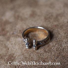 Viking Ring med spiraler, bronze