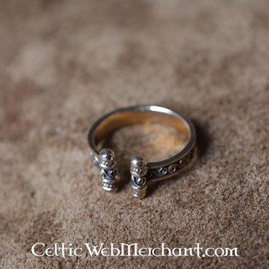 Vichingo Anello con spirali di bronzo