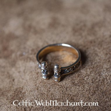 Viking Ring with spirals, bronze