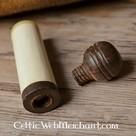 Boîte à aiguilles médiévale, en os