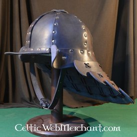 Leather samurai helmet