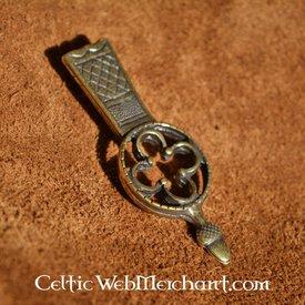 Embout médiéval de ceinture, réplique d'un original du musée de Londres