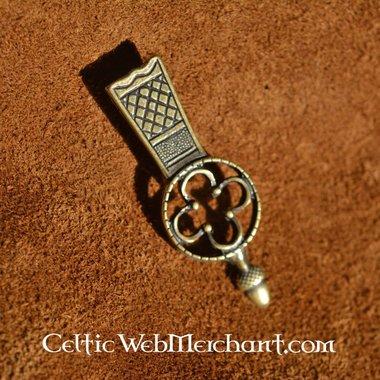 Embout mà©dià©val de ceinture, rà©plique d'un original du musà©e de Londres