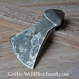 Testa d'ascia forgiata a mano, antica, da combattimento