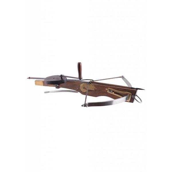 15th century crossbow with cranequin
