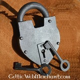 Historical heart-shaped padlock