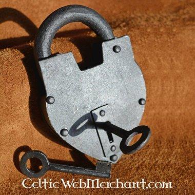 Historical heart-shaped padlock